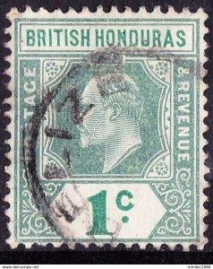 BRITISH HONDURAS 1904 KEDVII 1 Cent Grey-Green & Green SG84 Fine Used