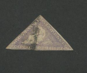 1858 Cape of Good Hope Postage Stamp #5 Used F/VF Faded Postal Canceled