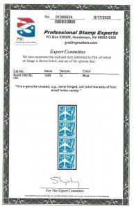 Doyle's_Stamps: 1958 Small Holes Coil Strip/LPr 7c Airmail Jets  #C52**