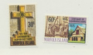 Norfolk Island Scott #190 To 191, St. Barnabas Chapel Issue From 1975, Mint N...