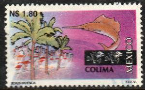 MEXICO 1788, N$1.80 Tourism Colima, resort, fishing. USED, F-VF. (1376)