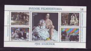 Sweden 1386 1981 Film History stamp sheet mint NH