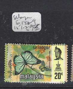 MALAYA SELANGOR    (P1409B)   BUTTERFLY  SG 146-9 , 151-2  MNH