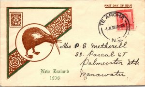 1938 NEW ZEALAND FIST DAY WITH CACHET ( Postal History ), 1938