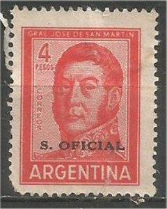 ARGENTINA, 1959 used 4p, San Martin Scott O124