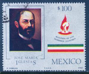 MEXICO 1472 Rotunda interment of Jose Ma Iglesias Used (1237