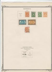 estonia 1919  stamps on page ref r9117