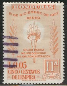 Honduras  Scott C304 Used airmail stamp