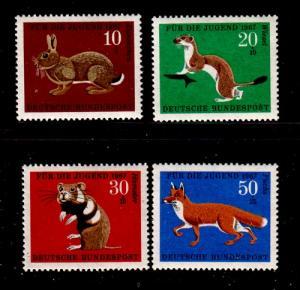 Germany Sc B422-5 1966 Wildlife stamp set mint NH