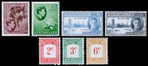 Seychelles Scott 125a // J3 (1938-51) Mint H VF, CV $13.05 Y