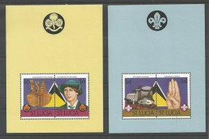 1986 St Lucia Boy Scout Girl Guides 75th anniversary SS (2)