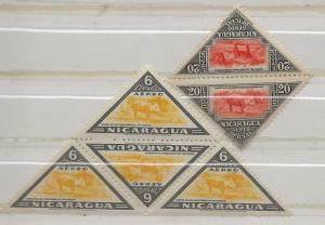 Nickel Auction. Nicaragua C284,CO40 tete-bech pairs nh [ck24]