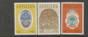 NETHERLANDS, ANTILLES, B134-B136, MNH, ORNAMENTAL STONE