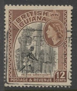 STAMP STATION PERTH British Guiana #260 Used Wmk.4  1954