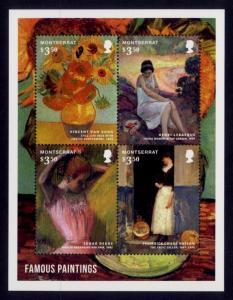 Montserrat Sc# 1347 MNH Paintings (M/S)