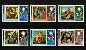 ANGUILLA - 1973 - CHRISTMAS - SHEPHERDS - MADONNA + PAINTINGS - MINT - MNH SET!