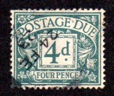 GREAT BRITIAN J6 USED SCV $5.75 BIN $1.75 NUMERICAL DENOMINATION
