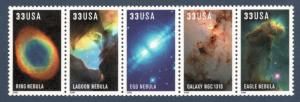 3384-3388 (3388a) Hubble Space Telescope Strip Of 5 Mint/nh Free Shipping