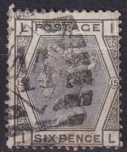 Great Britain #62  Plate 15  F-VF Used  CV $70.00 (Z9103)