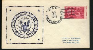 USS SPRINGFIELD CL-66 1946 Cachet Naval Cover F