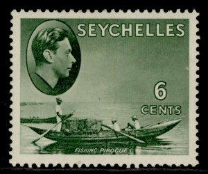 SEYCHELLES GVI SG137a, 6c greyish green, M MINT.