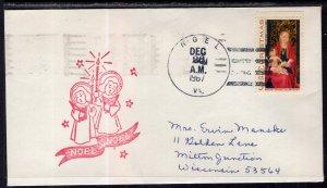 US Christmas Noel,VA 1967 Cover