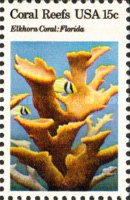 United States 1828 - Mint-NH - 15c Elkhorn Coral in Florida (1980)