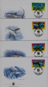 Tokelau 308-11 FDC WWF-02/Fishes