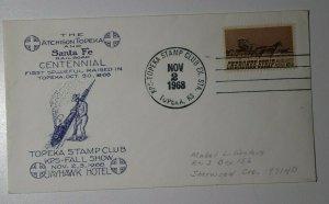 KPS Topeka Stamp Club Fall Show Topeka KS 1968 Centennial Philatelic Expo Cachet