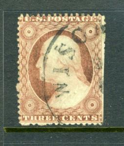 #25A 3c Washington - Plated 79L3 with PSE CERTIFICATE cv$800.00++
