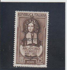 Trieste  Scott#  168  MH  (1953 Overprinted)