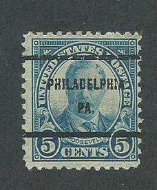 1927 USA Philadelphia, PA  Precancel on Scott Catalog Number 637