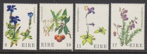 Ireland 428-31 Flowers mnh