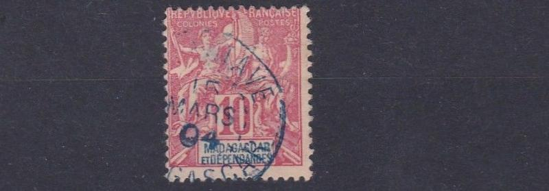 MADAGASCAR  1900 - 06    S G18  10C  ROSE RED  USED