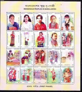 O)2010 BANGLADESH, INDIGENOUS PEOPLES, COSTUMES, DANCE, M/S,