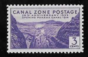 CANAL ZONE 122 3 cents 25th Anniversary Stamp Mint OG NH VF