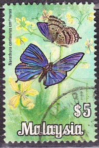 MALAYSIA 1970 $5 Butterfly SG70 Fine Used