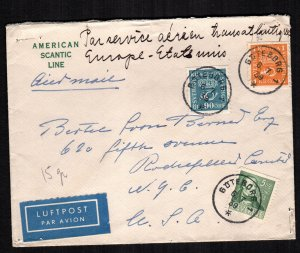 Sweden  167 - 168 318a cover to USA