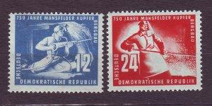 J23297 JLstamps 1950 germany DDR set mlh #68-9 miners