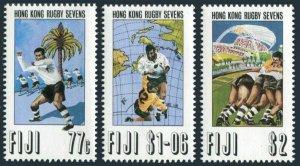 Fiji 684-686,MNH.Michel 679-681. Hong Kong Rugby Sevens 1993.Players,Map,Palm.