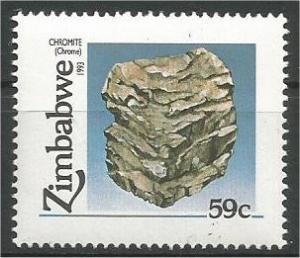 ZIMBABWE, 1993, MNH 59c, Minerals Scott 677