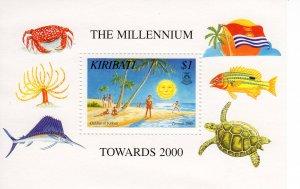 Kiribati 1998 Sc#729 Children of Kiribati-Frog-Whale Souvenir Sheet (1) MNH