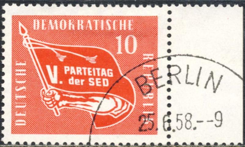 Germany DDR 1958 Sc 393 Socialist Party Congress Stamp Used