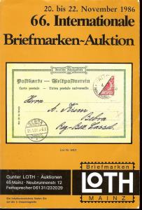 66. Loth-Briefmarken-Auktion: Internationale Briefmarkena...