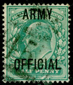 SGO48, ½d blue-green, USED.