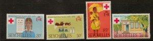 SEYCHELLES SG284/7 1970 RED CROSS   MNH