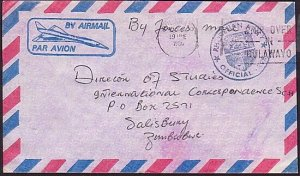 RHODESIA 1980 Bush War Official cover - Army Official Free.................35165