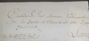 A) 1815 CIRCA, NICARAGUA, PRESTAMP LONG TOBACCO FRONT FROM GRANADA TO LEON WITH