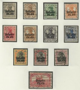 German Occupation of Lithuania 1N1-12 used (416087)