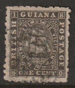 British Guiana 1866 Sc 50 used
